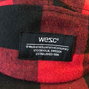 Red and Black checkered WESC hat